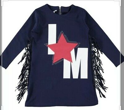 Girls iDO Mini Conf Designer Long sweatshirt And Bottoms Navy Blue & Red Age 6