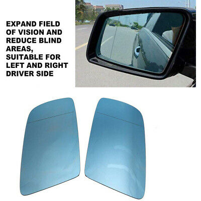 Left Heated Blue Wing Mirror Glass for BMW 5 E39 1995-2003 power folding only