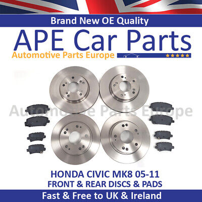 for HONDA CIVIC 1.4 1.8 2.2 CDTi 2006-2011 REAR 2 BRAKE DISCS SET NEW PAIR