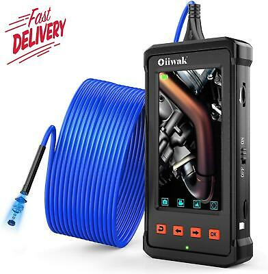 33Ft Industrial Endoscope, Oiiwak Pipeline Drain Sewer Duct Inspection Camera Ip