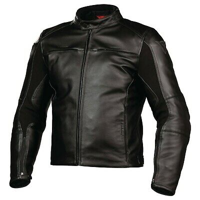 New Dainese Razon Pelle Leather Jacket Men's EU 52 Black #153365100152