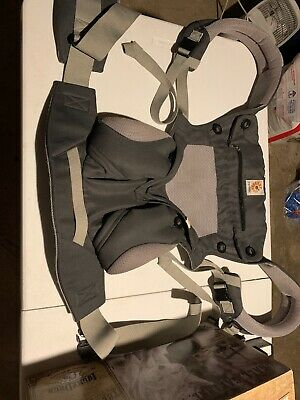 Ergobaby 360 BC360PBLKGRY 4 position Baby Carrier Carbon Gray