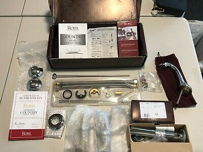 NEW Rohl A1408LMAPC-2 Polished Chrome Country Bath Widespread Bathroom Faucet
