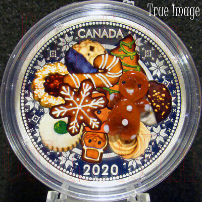 2020 Holiday Cookies Venetian Murano Glass Gingerbread Man $20 Pure Silver Coin