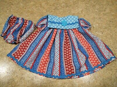 "VINTAGE CHATTY CATHY 18-20/"" NEW HANDMADE W//LOVE 2 PC BLUE TONES CATS  OUTFIT"