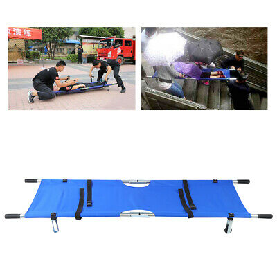 Aluminum Alloy Foldable Medical/Home Clinic Patient Emergency Stretcher Bed Blue