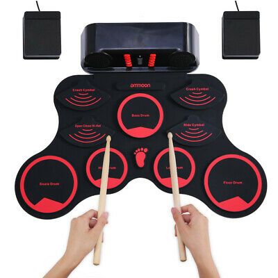 ammoon Electronic Drum Digital Roll-Up MIDI Drum Kit 9 Silicon Durm Pads