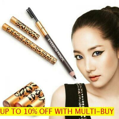 Long-Lasting Waterproof Cosmetic Leopard Eyeliner Eyebrow Pencil Brush Makeup