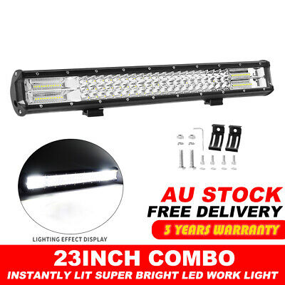 "Tri Row 23""Inch 960W Cree Led Light Bar Spot Flood Offroad Lamp 4Wd Driving Car"