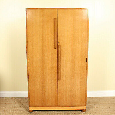 Vintage Art Deco Oak Wardrobe Fine Quality Compactum Armoire SOLID OAK
