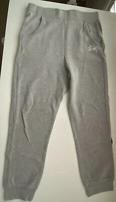 Stussy Trackies Track Pants Grey Size 6 EUC
