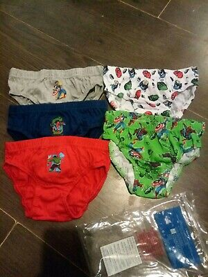 5x Pairs Boys Marvel Character Underwear Pants Briefs Age 4-5 years. Spiderman