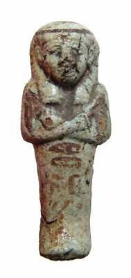 faience chaouabti - authentic ancient egypt ushabti . 1075 - 945 BC