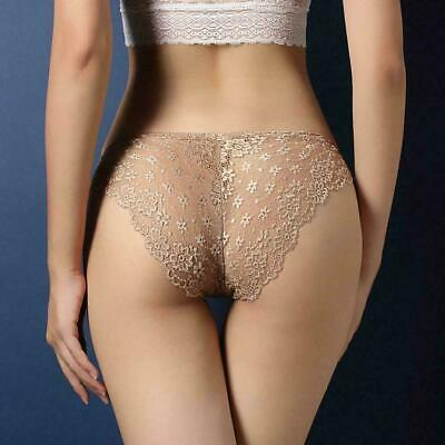 Women Lady Sexy Lace Briefs Floral Shorts Panties Underwear Knickers Underp G1C7