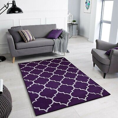 New Modern Trellis Area Rugs Living Room Small Large Thick Soft Floor Carpet Rug