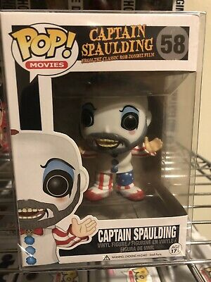 Funko Pop House of 1000 Corpses Captain Spaulding #58 Vaulted/ Rare