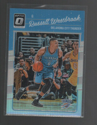 Russell Westbrook 201617 Panini Donruss Optic Silver Holo Prizm Card #145