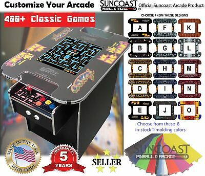 🔥Retro Cocktail Arcade Machine With 412 Classic Games, Chrome Trim, Ms Pacman