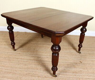 Antique Victorian Mahogany Dining Table 19th Century