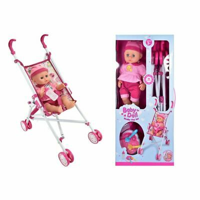 Baby Doll Playset with Stroller, Accessories and Baby Doll with sound.