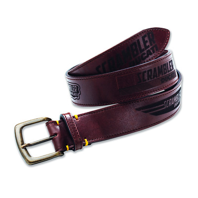New Ducati Scrambler Logos Belt 100cm Brown #987691895