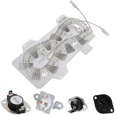 Dryer Heating Element Thermal Fuse Thermostat Dryer Repair Kit Replacement