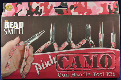 Pink Camouflage Tool Kit with Gun Handles.