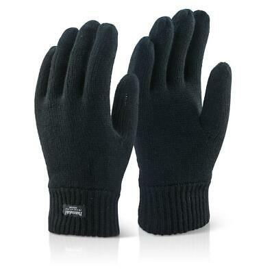 MENS/WOMEN THERMAL THINSULATE KNITTED FULL FINGER WINTER GLOVES  *Free Post*