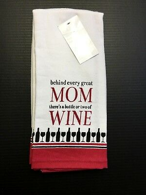 CASABA  KITCHEN TEA TOWELS WHITE POLKA DOT HAPPILY EVER AFTER 100/% COTTON 2