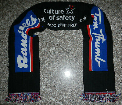 Randalls Tom Thumb Grocery Store Logo Culture of Safety Knit Winter Scarf