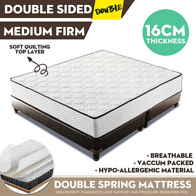 Single Mattress Double Size Medium Firm TOP Quilted Soft Bed Firm Foam Spring