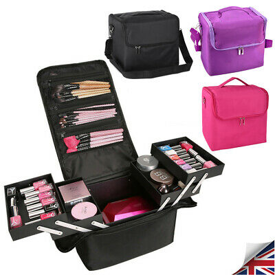 Professional Make up Bag Portable Cosmetics Case Nail Kit Storage Box Travel New