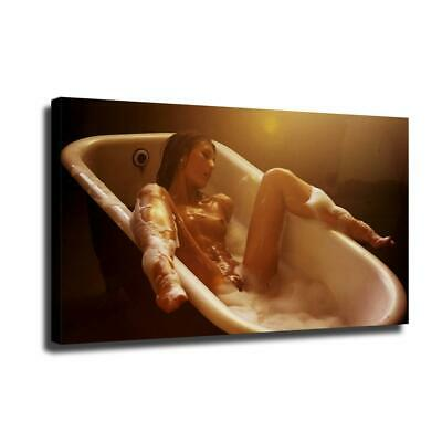 "12""x22""Nude Woman HD Canvas prints Painting Home Decor Picture Wall art Poster"
