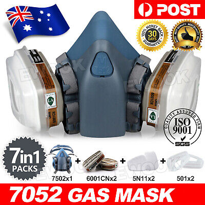 7502 Piece Suit Half Face Respirator Painting Spraying Mouth Gas Mask