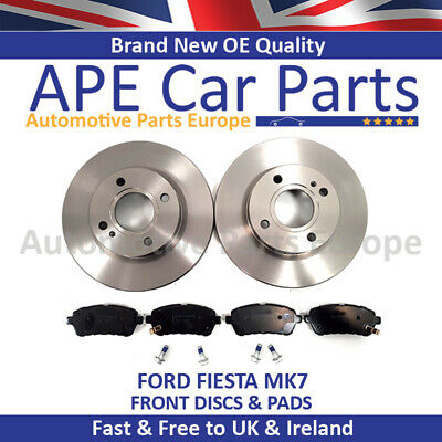 FORD FIESTA MK7 B299 1.2 1.3 1.4 1.4D 1.6 FRONT BRAKE DISCS /& PADS 2008 ON NEW