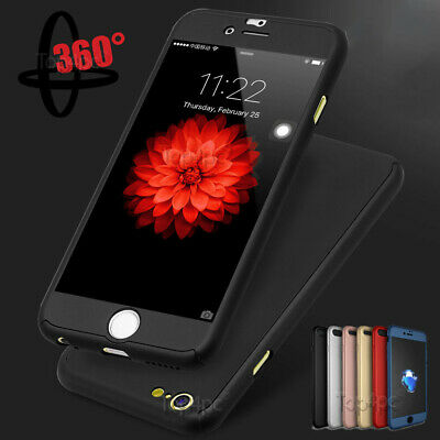 For iPhone 6s 7 8 5 Plus XR XS Max 360 Case Shockproof Bumper Hybrid Phone Cover