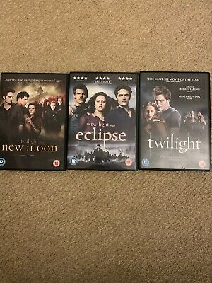 The Twilight Saga - DVD Collection. New Moon,  Eclipse And Twilight.