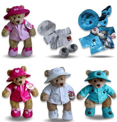Teddy Bear Raincoat Hat & Boots Bears Clothes Fit Build a Bear Teddies +Passport