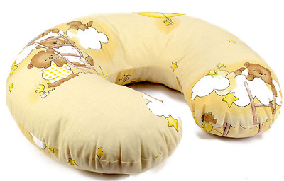 Feeding Pillow Baby Breast Pregnancy Maternity + Removable Cover Ladder Cream