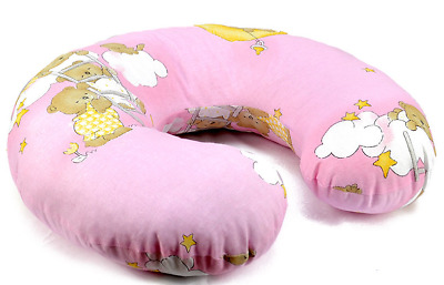 Feeding Pillow Baby Breast Pregnancy Maternity + Removable Cover Ladder Pink