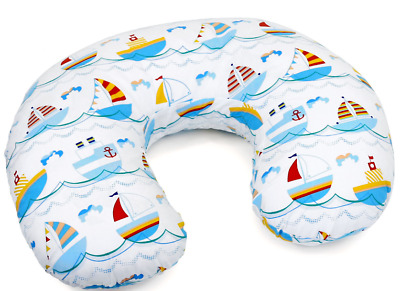 Feeding Pillow Baby Breast Pregnancy Maternity + Removable Cover Boats