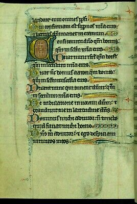 Psalter of Jernoul de Camphaing  Manuscripts. COLLECTION OF 12  ILLUMINATIONS