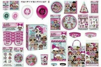 Lol Surprise Dolls Girls Birthday Party Supplies Tableware Balloons Decorations