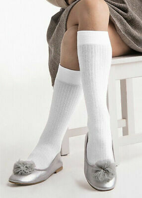 Girls Knee High School Socks Soft Breathable Molly One Size