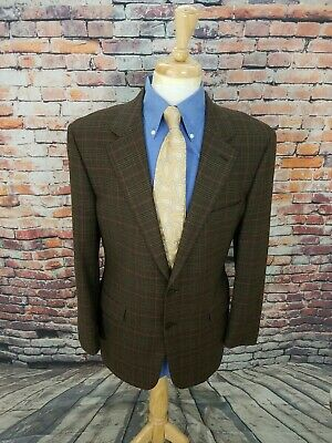 Brooks Brothers 1818 42R ITALY Brown Glen Plaid WOOL Flannel Sport Coat Blazer