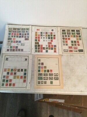 Canada Collection of 257 Stamps On Album Pages