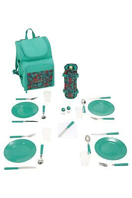 Mountain Warehouse 4 Person Picnic Set Patterned  teal new - XL