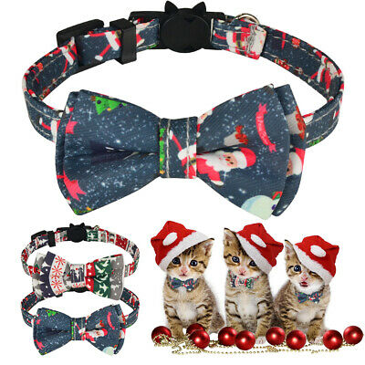 Christmas Cat Kitten Collars Quick Release Safety Buckle Adjustable Neckband