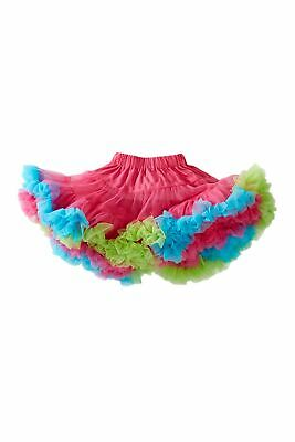 Mud Pie E0 Baby Toddler Girl Tiny Dancer Tutu Pettiskirt Hot Pink/Blue/Green