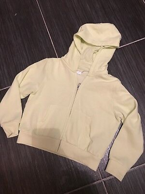 Next Girls Hoody Age 6 Yellow Zip Up